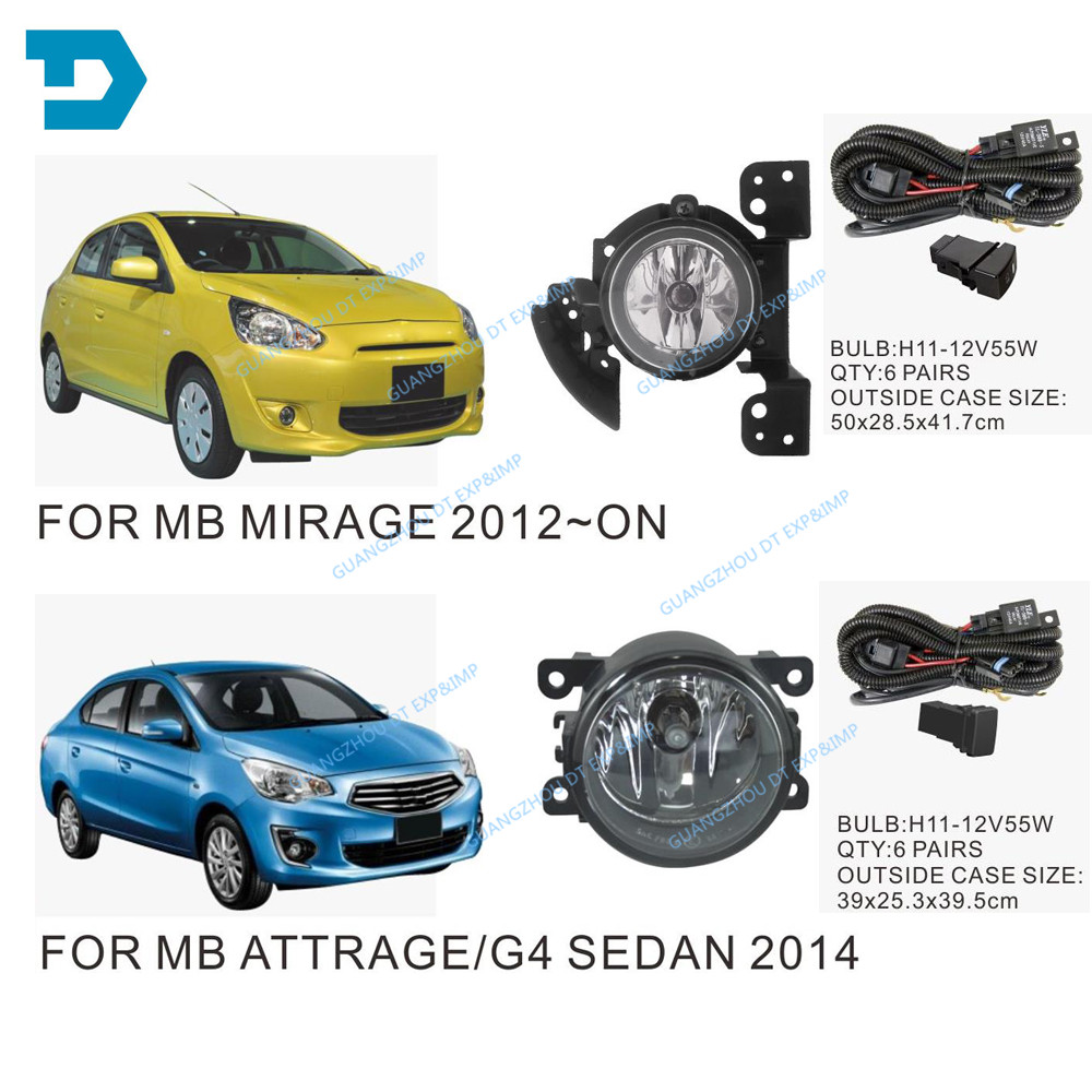 MIRRAGE fog lamp SET with bulb WIRE AND SWITCH ATTRAGE FOG LAMP SET CHOOSE BASED ON PICTURE