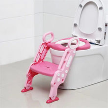 Cute Children Portable Toilet Ring Kids Convenient Security Baby Outdoor Travel Potty Folding Chair Potty Training Seat(China)