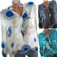 Womens Fashion Summer Korean Style Ethnic Loose Chiffon Blouse Shirt S-XXL Size Women Clothes рубашка женская D30
