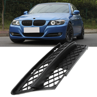 2pcs Left Right Black ABS Plastic Car Front Lower Mesh Grille Trim Cover For BMW E90