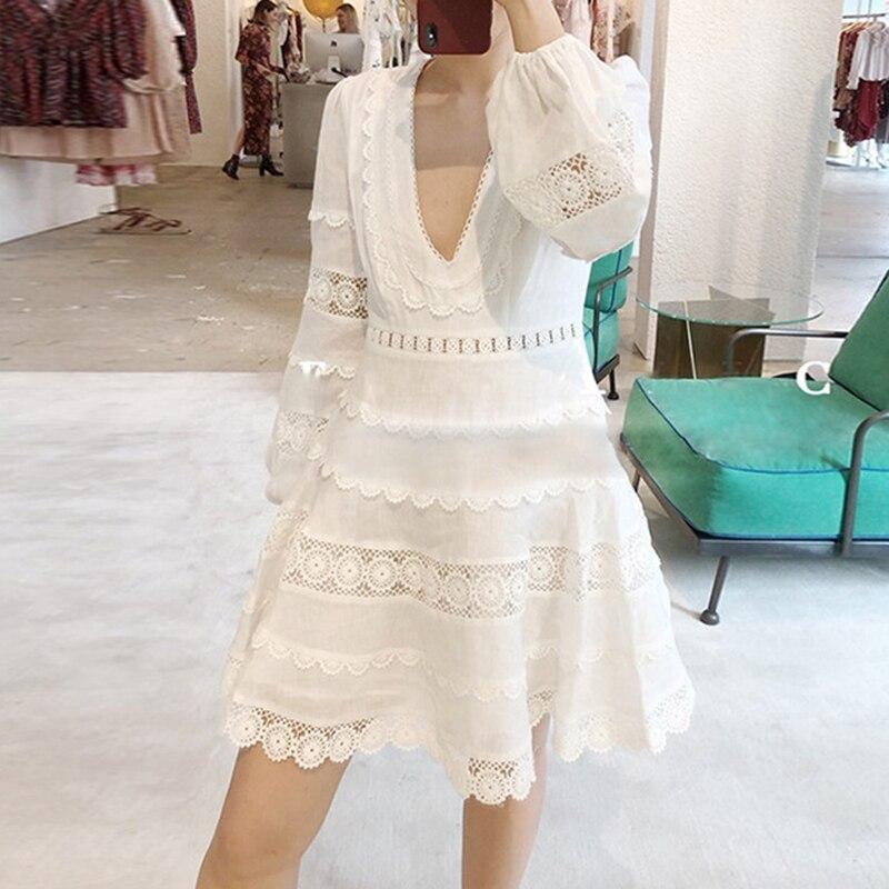 Femmes robe courte Designer manches longues robes de soirée vente