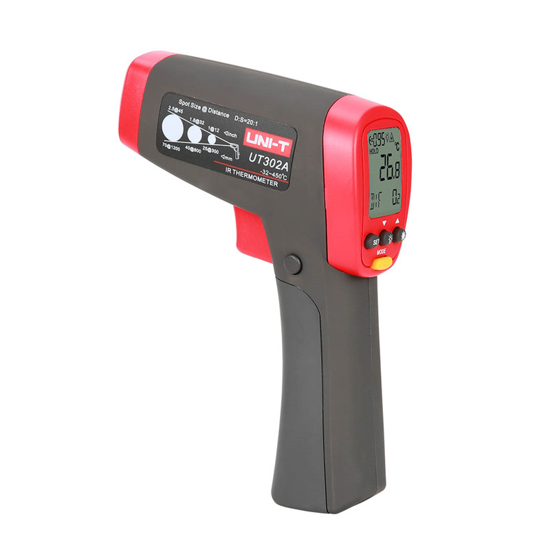 UNIT Pyrometer UT302A Infrared thermometer -32-450 Celsius infrared thermometer gun handheld non-contact IR thermometer az 8838 handheld gun safety ir infrared food thermometer