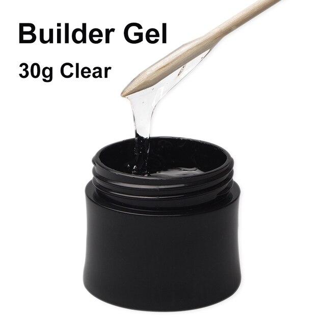 Gel de uñas transparente UV Builder esmalte de uñas francés manicura Gel Set remojo de la extensión Gel polaco micey Venta caliente 30 ml/unids