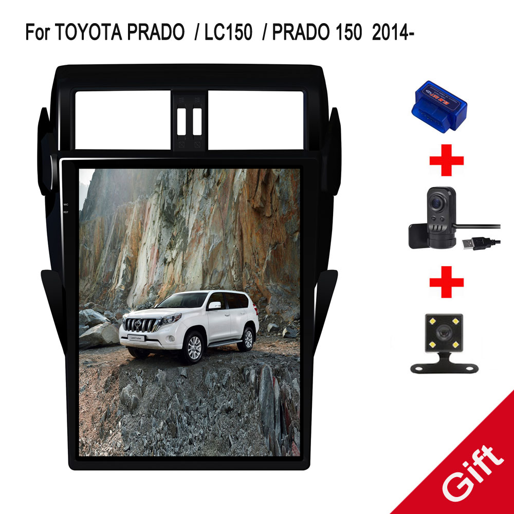 16 Tesla Android 7 1 Fit TOYOTA PRADO LC150 PRADO 150 2014 2015 2016 2017 Car