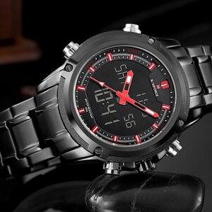 Image 3 - שעונים גברים NAVIFORCE מותג ספורט מלא פלדת קוורץ אנלוגי LED שעון Reloj Hombre צבא צבאי שעוני יד Relogio Masculino