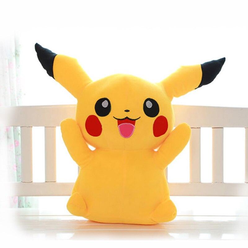 Heureux Pikachu En Peluche Jouet 35/45 cm Mignon Grands Yeux Poupées Pour Enfants Jouet de Haute Qualité PP Coton Brinquedos Enfants Cadeau