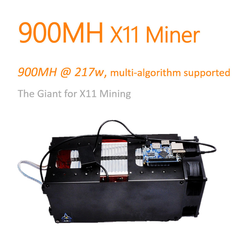 [SOLD OUT] X11 Miner 900MH Baikal Giant-A900 ASIC X11 Dash Miner 900MH with only 217W