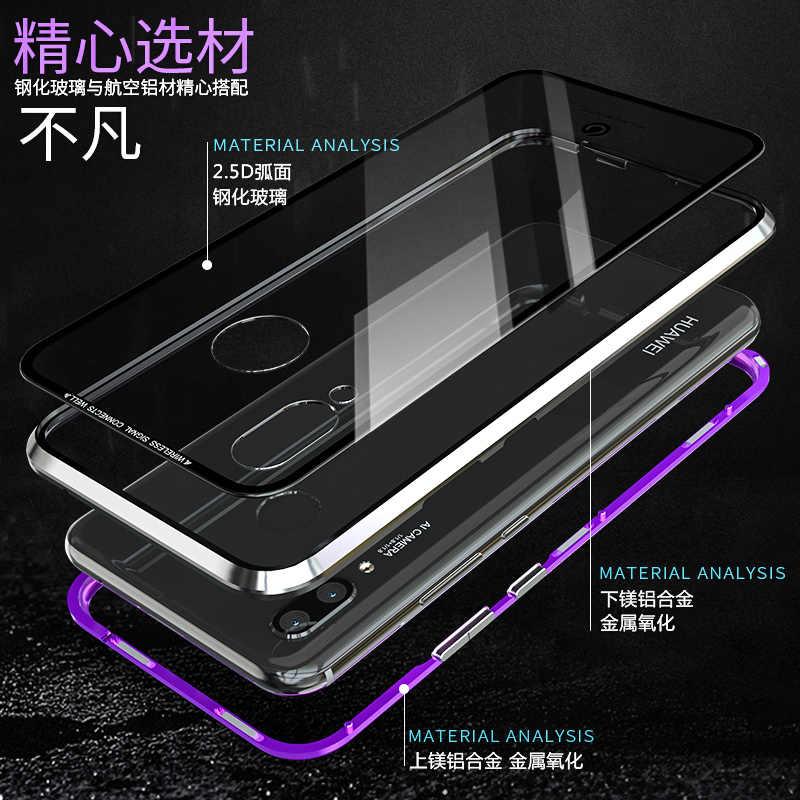 المعادن المغناطيسي حافظة لهاتف Huawei P30 برو لايت P20 برو الهاتف الزجاج الشفاف الغطاء الخلفي المغناطيس هواوي P30Lite حالة P 20 برو 30 على