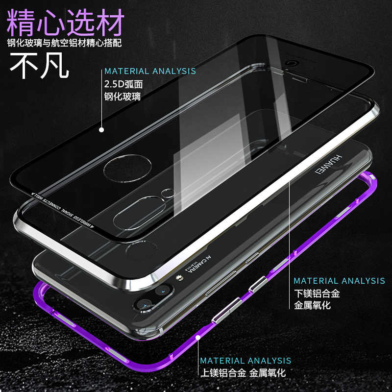 Metal Magnetic Case For Huawei P30 Pro Lite P20 Pro Phone Transparent Glass Back Cover Magnet Huawei P30Lite Case P 20 Pro 30 On