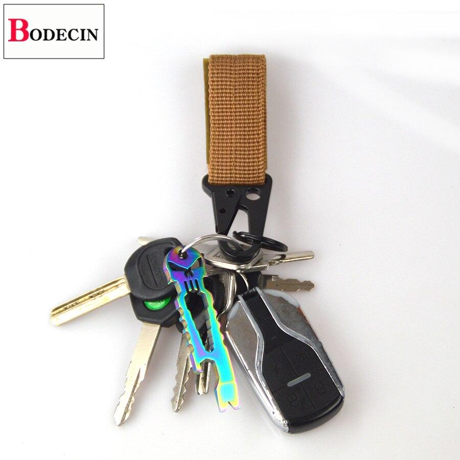 Outdoor Tools EDC Gear Camping Tactical Nylon Belt Clip Keychain Snap Hooks Bushcraft Molle Webbing Buckle Carabiner For Keys (10)
