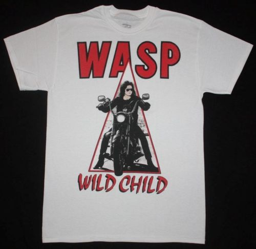 2018 Summer Casual Man T Shirt W.A.S.P. WILD CHILD85 WASP TWISTED SISTER NEW WHITE T-SHIRT Anime Casual Clothing