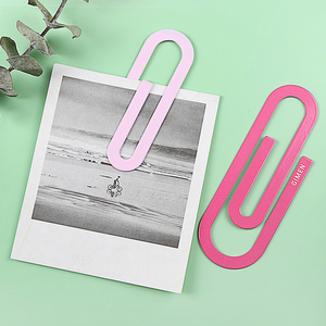 Image 2 - 30 pcs/Lot Large metal paper clip File memo binding tools bookmarks for books Stationery gift Office School supplies A6197