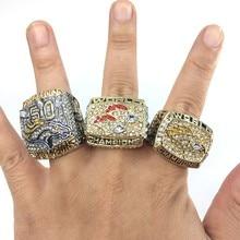 Increíble Envío de La Gota 1997/1998/2015 Denver Broncos Super Bowl DAVIS, ELWAY, MANNING Set Anillo de Campeón 3 unids Tamaño 8-14