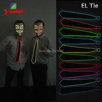 Электролюминесцентный Провода EL Провода светящиеся галстук с неоновая лампа LED неон Веревка Tube флэш Вт Косплэй украшения