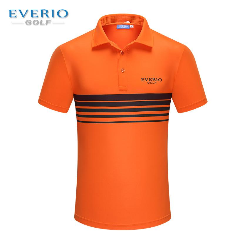 EVERIO 2017 NEW Golf Sportswear summer mens short sleeved golf T-shirt outdoor Golf fast dry Breathable polo shirt 6 colors