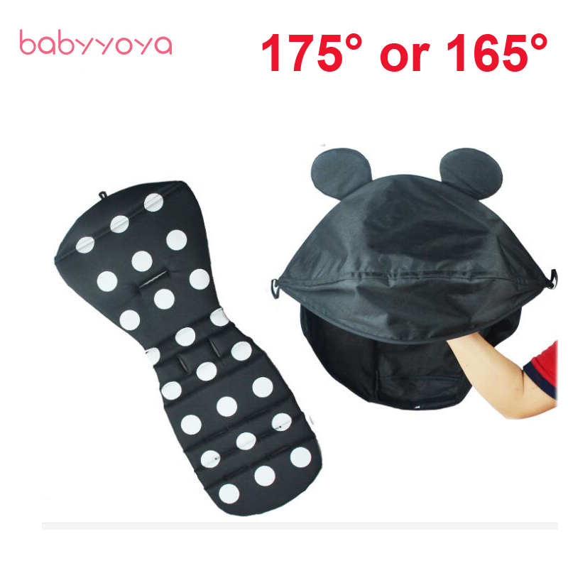 Baby Stroller Accessories Sun Canopy Car Linen hood and Seat Pad for Babyyoya Yoya Babyzen yoyo Stroller Cap Cushion visor Cover baby stroller accessories for yoya yoyo babyzen sun shade cover seat infant pram cushion pad sunshade canopy buggies for babies