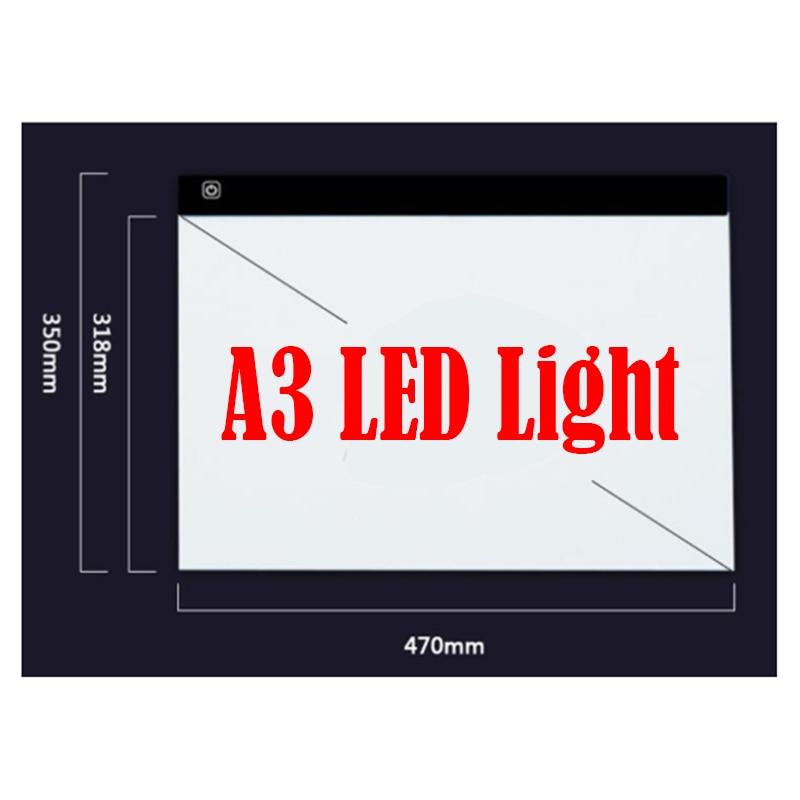 KEXINZU Diamant Peinture Point De Dimmable Ultra Mince A3 LED Lumière Tablet Pad S'appliquent à USB Plug Broderie Needlework Mosaïque Outils