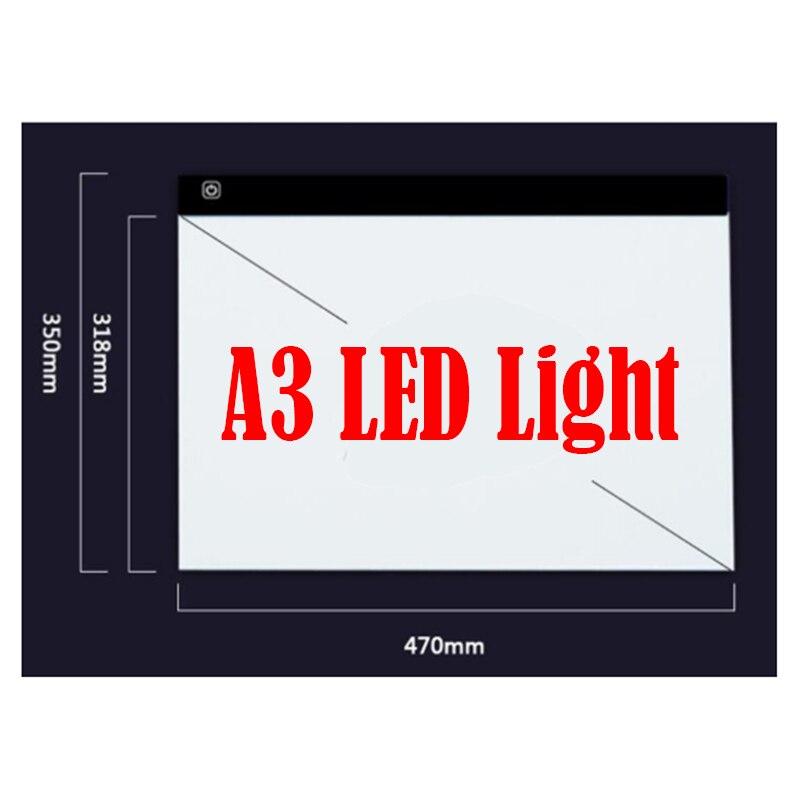 KEXINZU diamant peinture point Dimmable Ultra mince A3 lumière LED tablette Pad appliquer à USB Plug broderie couture mosaïque outils