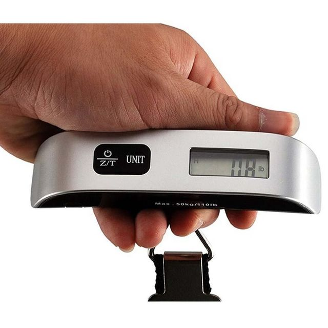 Portable Hanging Digital Electronic Scale for Luggage or Travel Suitcase – 50kg x 10g Weight Scale (No Backlight)