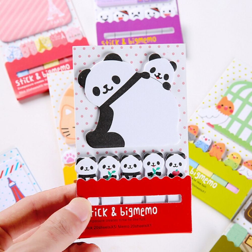 Faithful Animal Panda Cage Cute Kawaii Sticky Notes Post Memo Pad School Supplies Planner Stickers Paper Bookmarks Korean Stationery Products Hot Sale