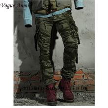Vogue Anmi. Cargo-hosen Mode Männer Hosen Winter Baumwolle Camouflage Military Hosen Männer Gerade Freizeithosen männer hosen