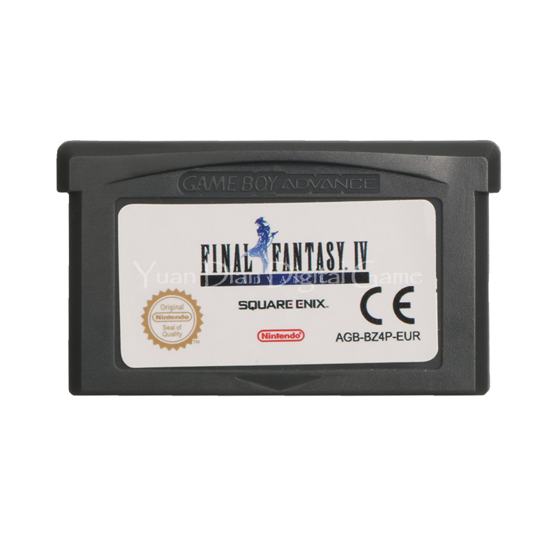 Nintendo GBA Video Game Cartridge Console Card Final Fantasy IV Advance ENG/FRA/DEU/ESP/ITA Language Version yx 249 for nintendo game boy advance sp gba sp screen lcd backlit brighter highlight ags 101 replacement