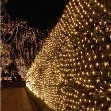 Год 2x3 м AC220V гирлянда светодиодный украшение Рождественские огни Светодиодный светящаяся сетка рождественские гирлянды Luces De Navidad с утолщённой меховой опушкой