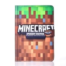 Stand Case For Apple iPad mini 1/2/3 mini 3 mini 2 Case Minecraft Game Cartoon