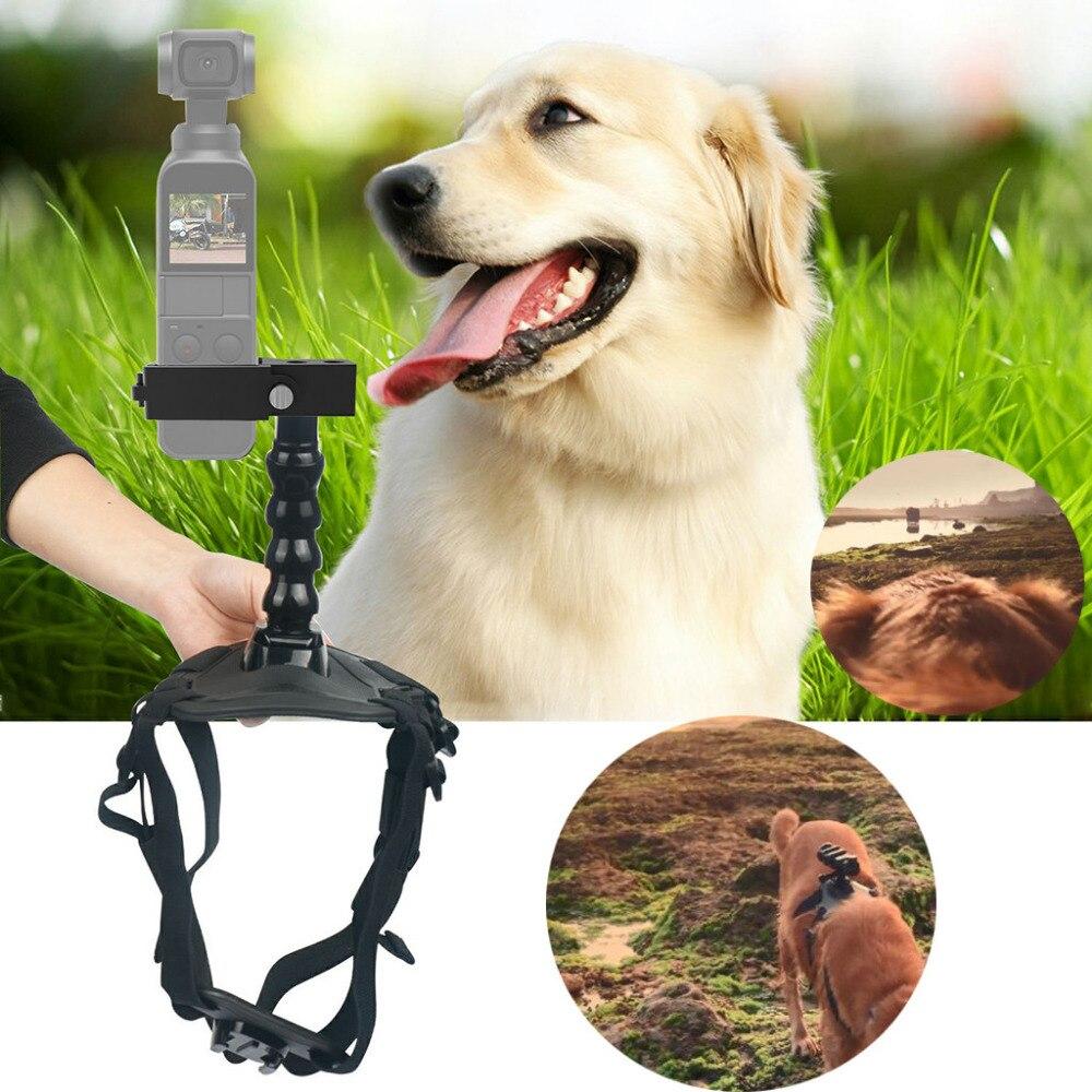 For DJI OSMO Pocket Pet Fetch Dog Pet Chest Back Mount Strap shoot Picture Adjustable Elastic