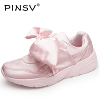 YEALON Women S Bow Sneakers Popular Satin Bowknot Running Shoes Sports Shoes Bowknot Sneakers Women Krasovki
