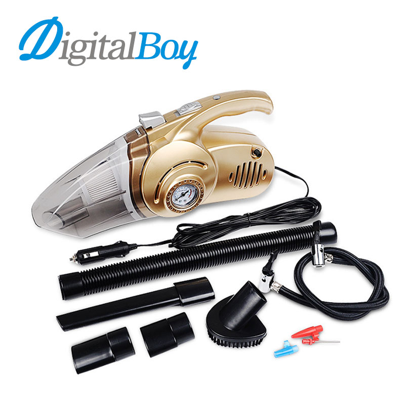 Brand New 120W Car Vacuum Cleaner Multi-function Wet&Dry Car Tire Inflator & Tire Pressure Gauge LED Light Handheld Vacuum 12V