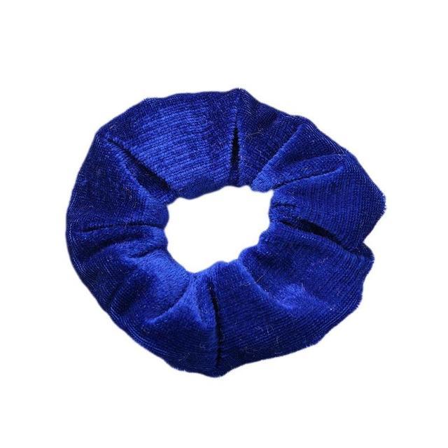 1X Terciopelo scrunchies Cola de Caballo soporte de accesorios para el Cabello Banda Elástica Para Cabello Lote Pop