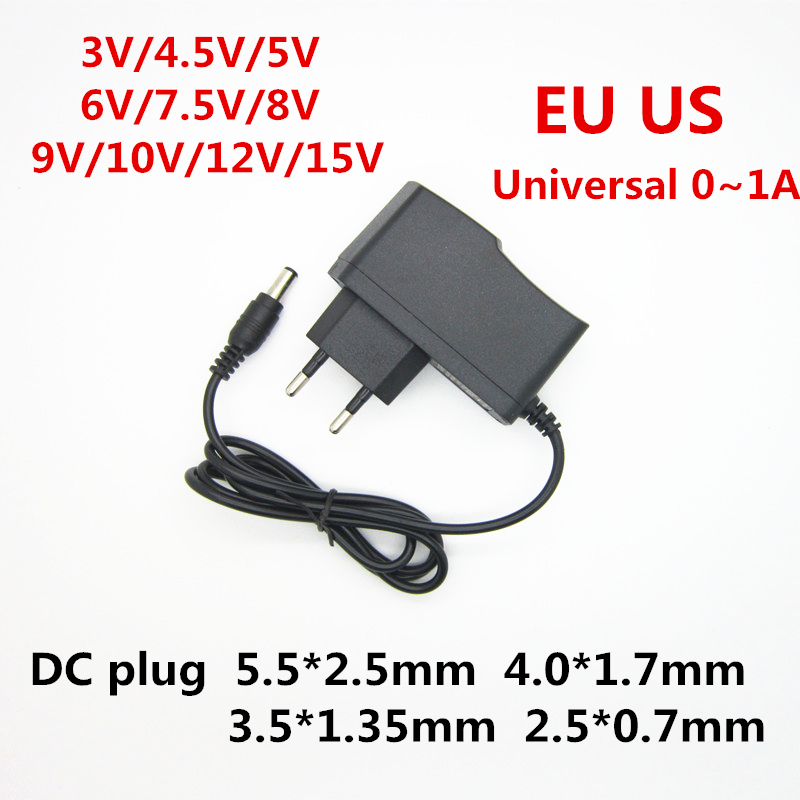 AC 110-240V DC 3V 4.5V 5V 6V 7.5V 8V 9V 10V 12V 15V 1A Universa Power Supply Adapter Transformer Charger For LED Light Strip