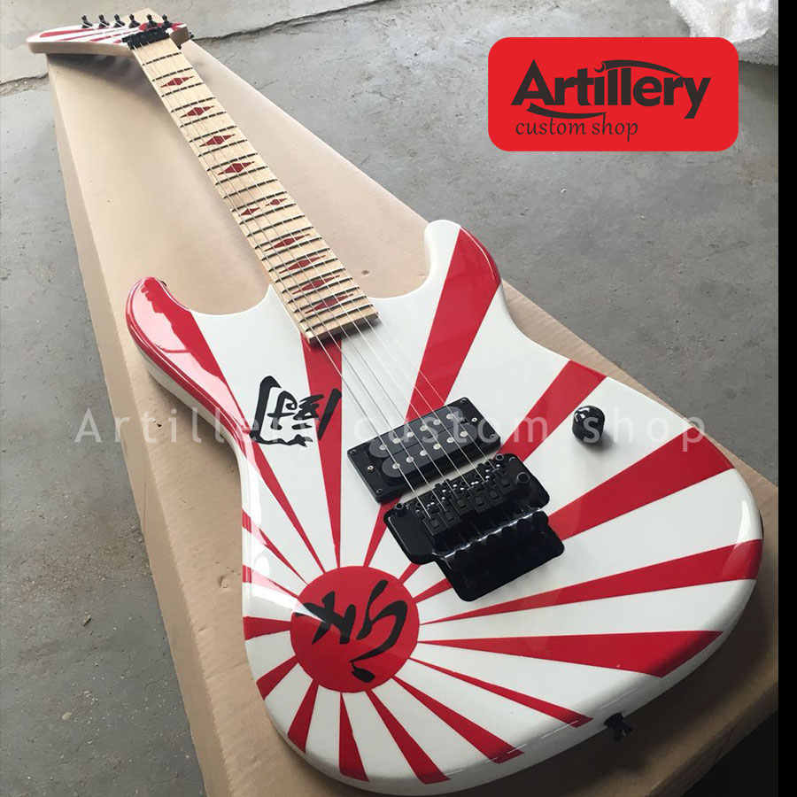 86abc32a223 Free shipping Top quality factory custom guitar with 5150 head ST body  electric guitars 6 strings