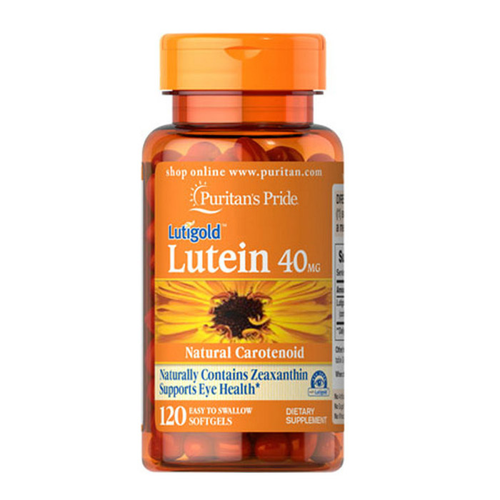 Free Shipping Lutein 40 mg120 Pcs Natural carotnoid pure natural marigold flower extract lutein 20