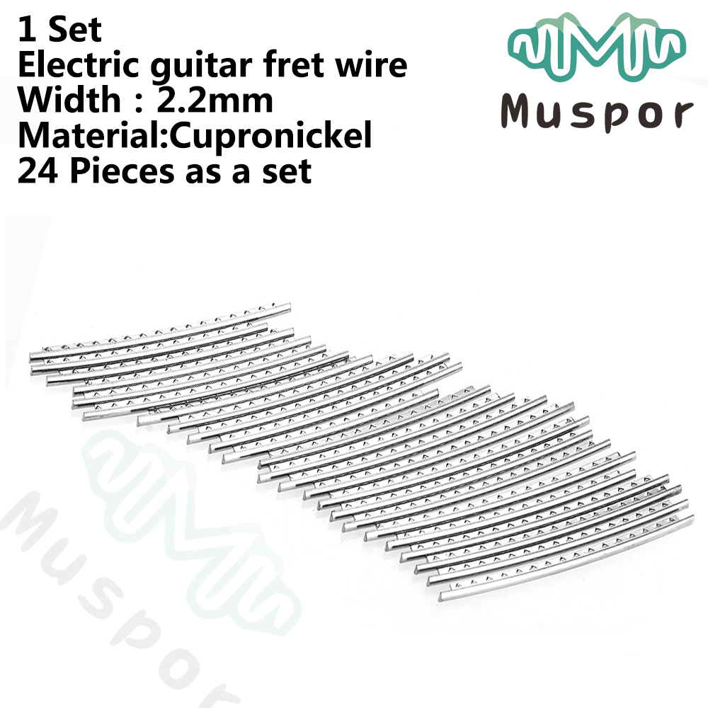 24pcs 2.2mm Fret Wire Replacement Parts for Electric