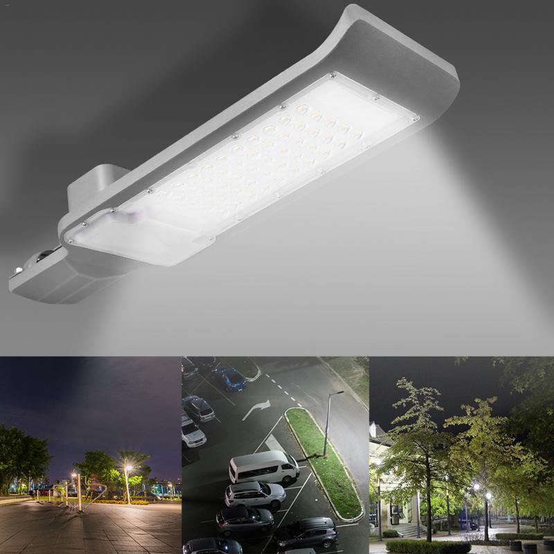 HUAN JUN SHI Solar Led Street Lamp Head 30w 50w Waterproof Outdoor Landscape Garden Street Light Led Solar Wall Light 85-265v