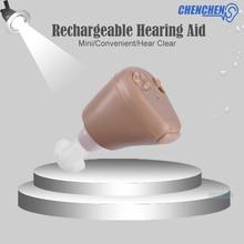 Дешевые слуховые аппараты глухие слуховые аппараты CIC Невидимый наушник-вкладыши устройство перезаряжаемый Audifono уход за слуховыми аппаратами