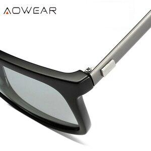 Image 4 - AOWEAR квадратные очки Хамелеона, женские поляризационные фотохромные солнцезащитные очки HD для вождения, Винтажные Солнцезащитные очки для мужчин и женщин