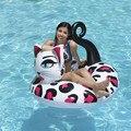 Гигантский надувной поплавок для бассейна с рисунком кота  плот  кольцо для бассейна  игрушки для бассейна  круглая водяная кровать  Boia Piscina ...