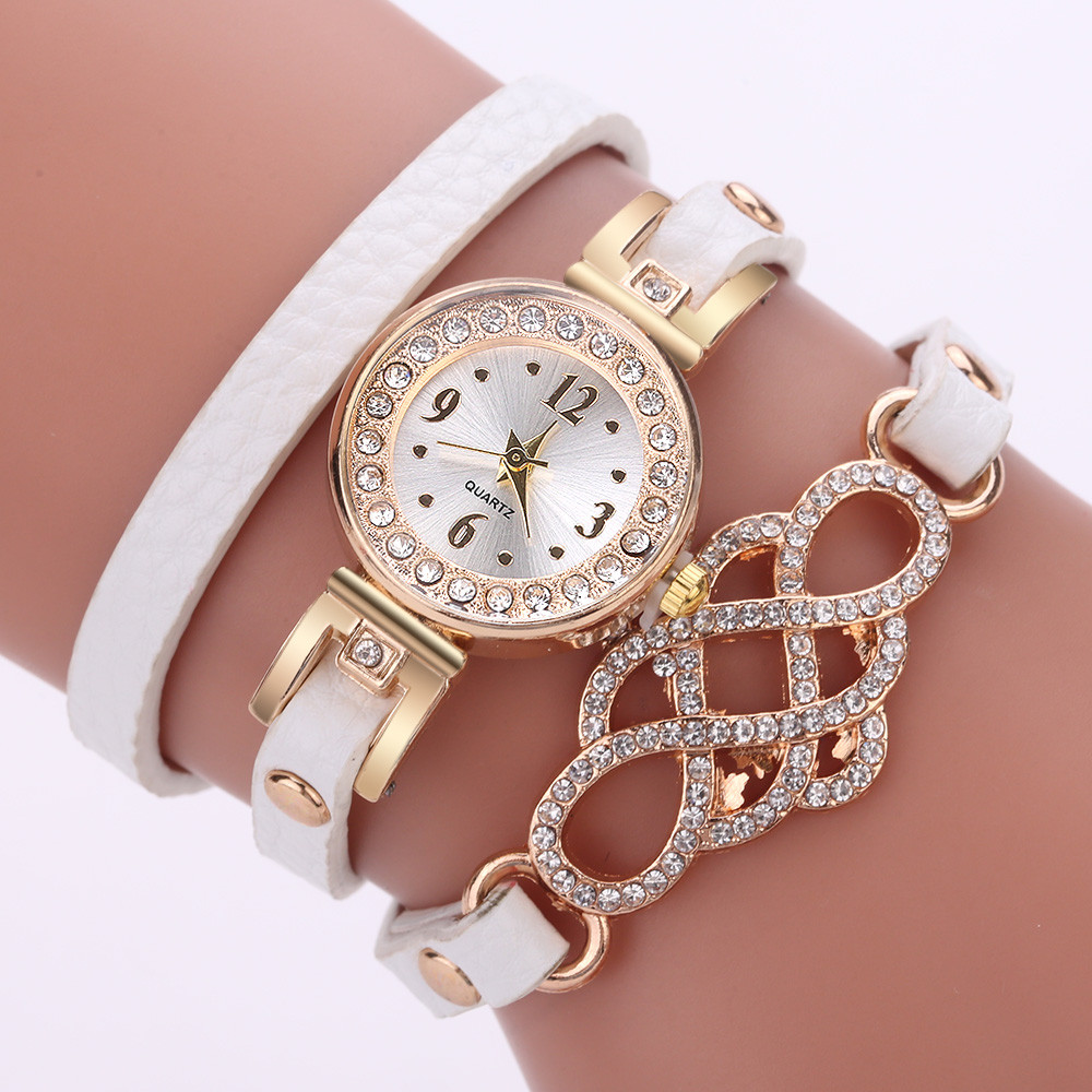 Women Watches Gemstone New Luxury Bracelet Watches Dress Women Dress Fashion Long Chain Casual Wristwatch Relogio Feminino 328