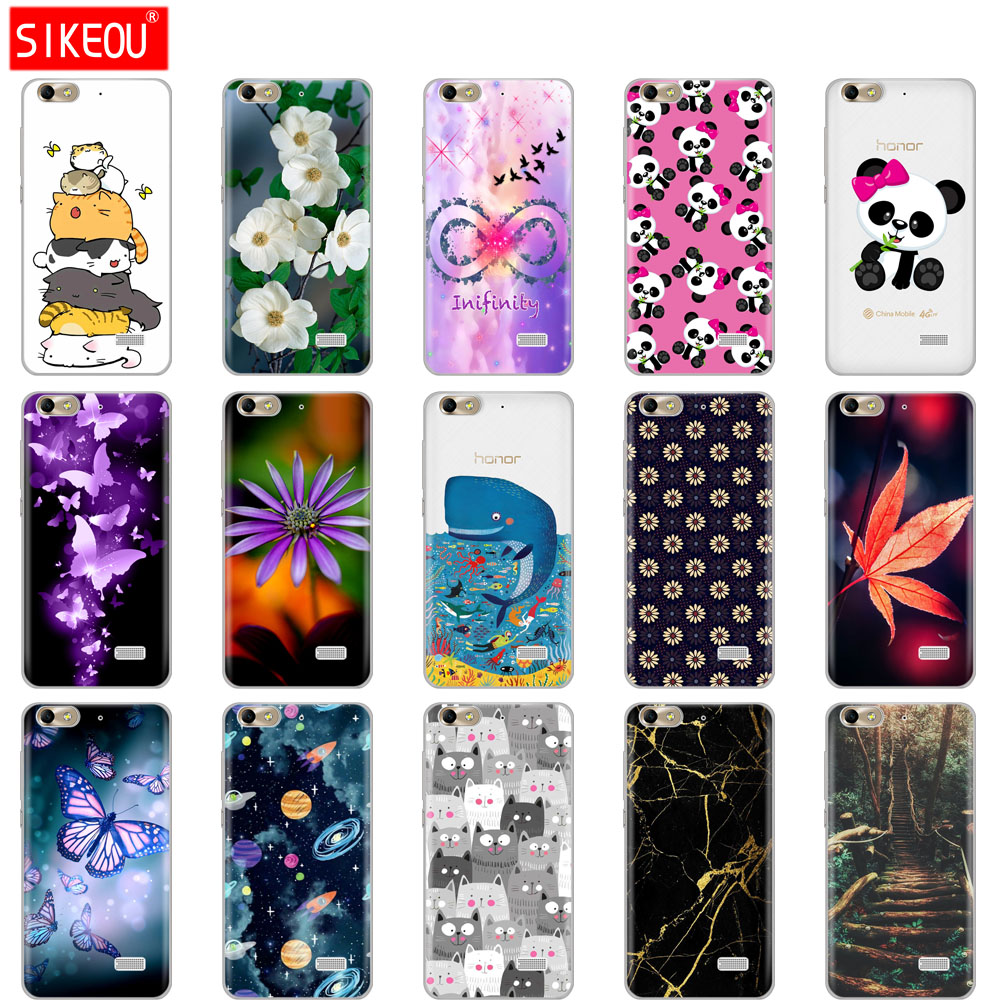 Silicone Case For Huawei Honor 4C Case Phone Cover For Honor 4 C Caque Funda Mobile Phone Bag Soft Tpu Full 360 Protective Cases