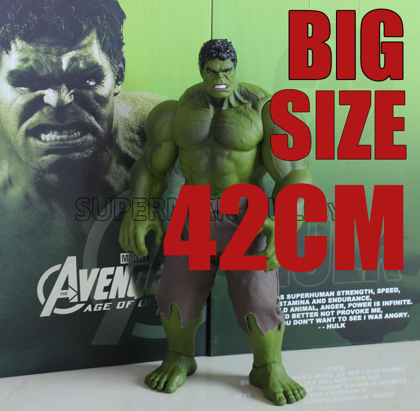 42cm Hulk Action Figures PVC Model Statue Collectible Toy big size Action Figures Toys avengers movie hulk pvc action figures collectible toy 1230cm retail box