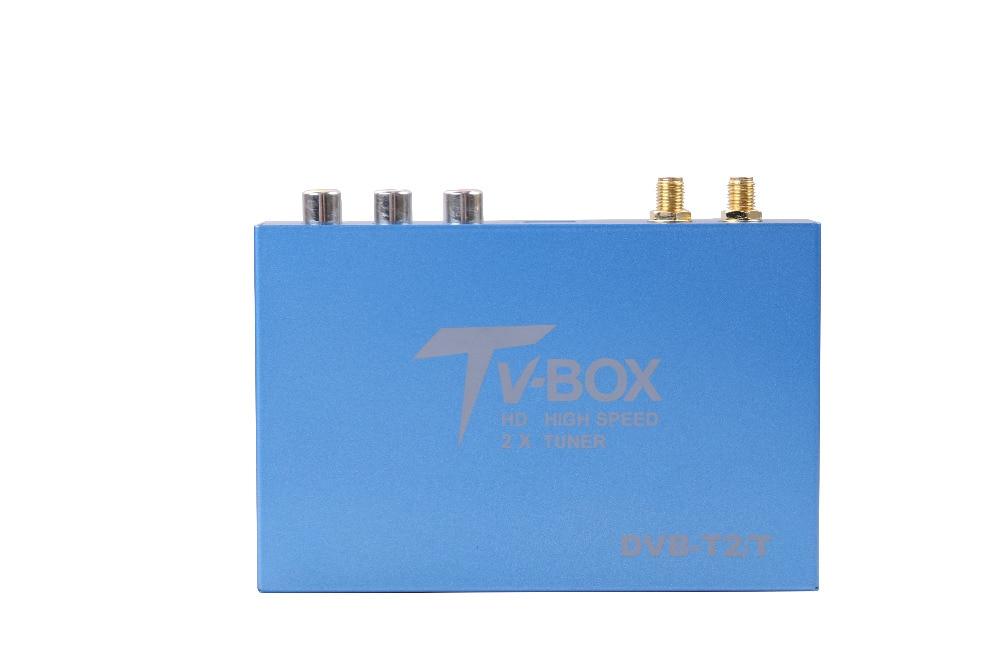 OZGQ 160 км/ч двумя тюнерами H.265 DVB T2/T цифровой автомобиль ТВ тюнера ТВ HD 1080 P двойной антенна Приемник для автомобиля