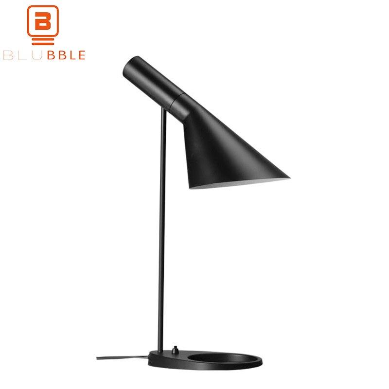 BLUBBLE Protection Des Yeux Lampe de Table Moderne Europe Du Nord Chambre Art Simple Bureau Lampe AC 110 v-240 v LED ampoules De Chevet AJ Lampe