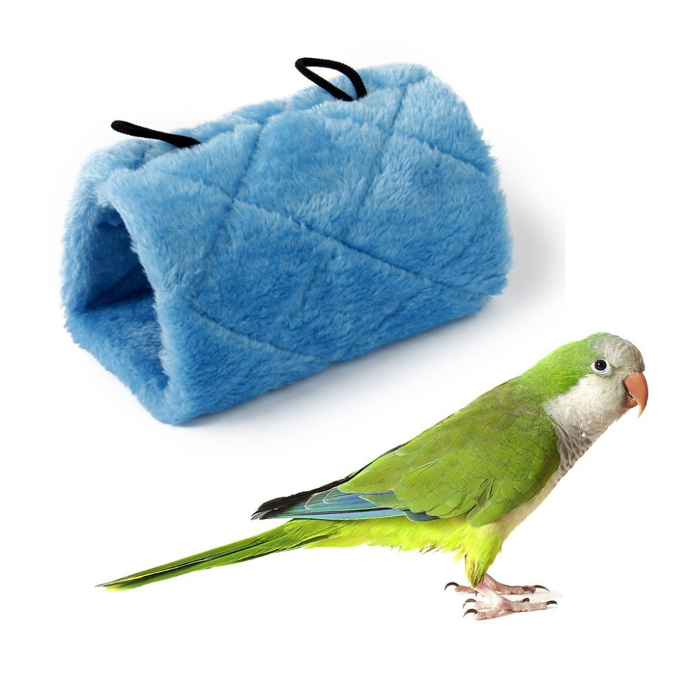 Pet Parrot Bird Hammock Hanging Cave Cage Snuggle Happy Hut Tent Bed Bunk Toy Blue Green ...