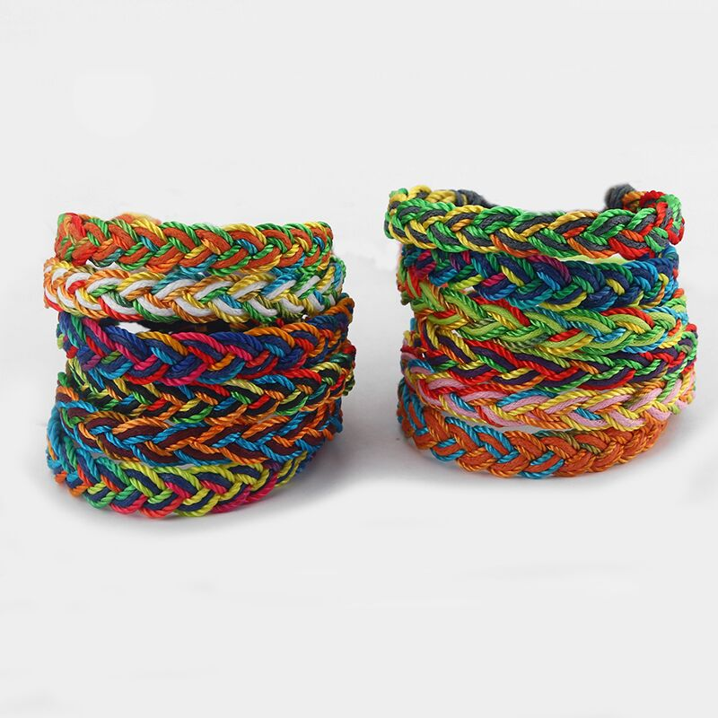 (20 pieces/lot ) Fashion Handmade Mixed Colors Thread Braided Surfer Woven Friendship Bracelets