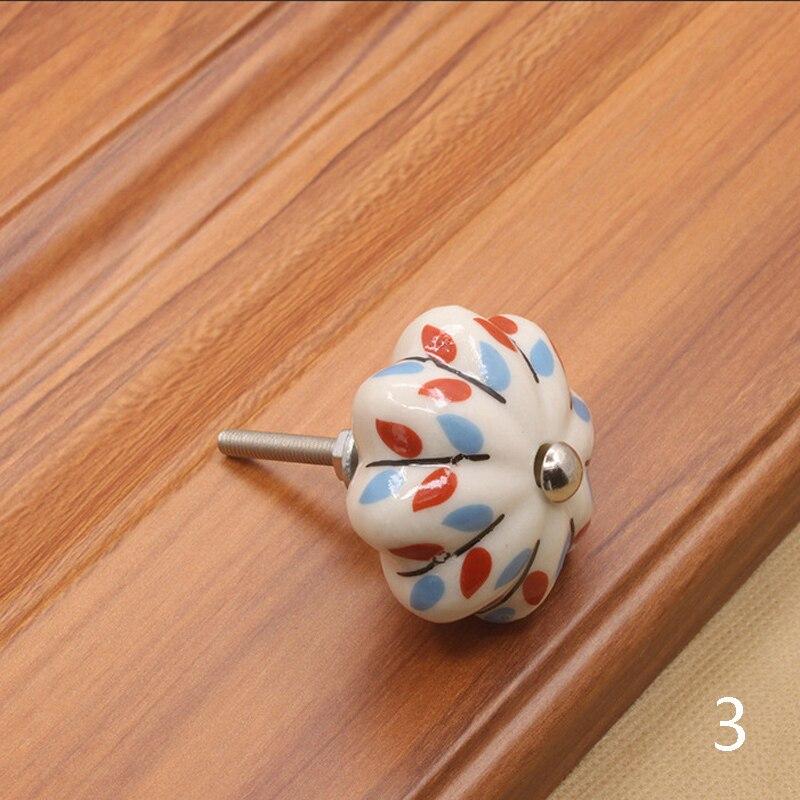 Мебельная фурнитура 40 мм ручка для мебели керамические ручки для ящиков шкафа и ручки дверный шкаф кухонные ручки - Цвет: 3