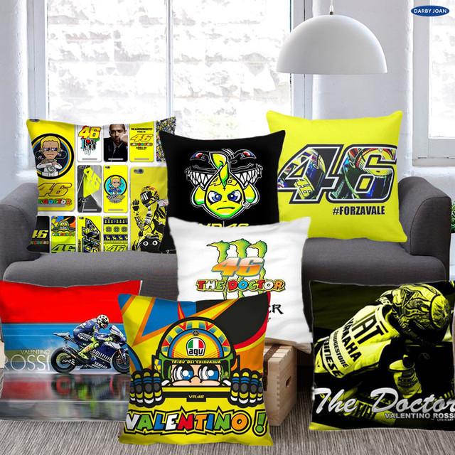 VALENTINO ROSSI 46 Decorative Throw Pillow Case Cushion Zippered Cover bed Decorative Throw Pillow Cases