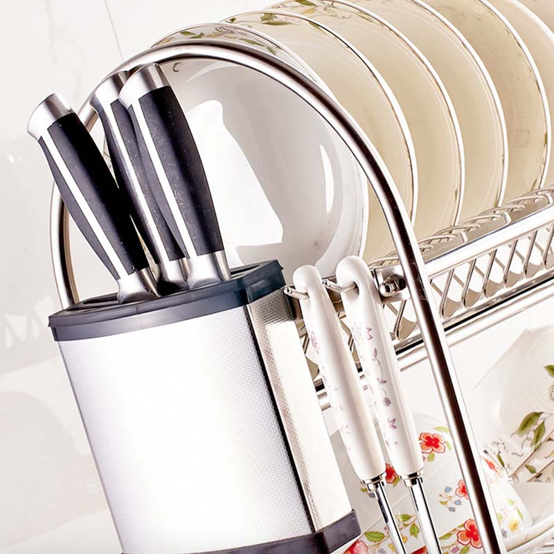 Roestvrij Staal Afdruiprek SUS 304 Afdruiprek, Droogrek, Bestek Houder, Gebruiksvoorwerp Tool Houder, keuken plank NW 3KG meer - 5